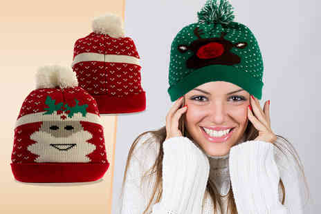 iKRUSH - Christmas themed pom pom hat - Save 70%