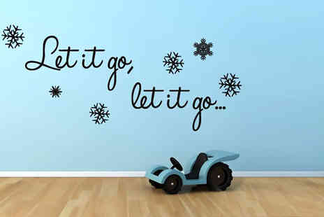 Mungai Mirrors - Frozen inspired song quote wall sticker - Save 53%
