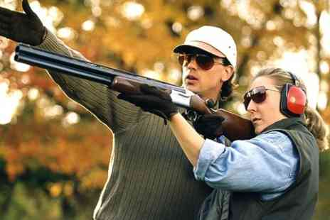 Sporting Targets - Clay Pigeon Shooting Lesson For Two - Save 50%