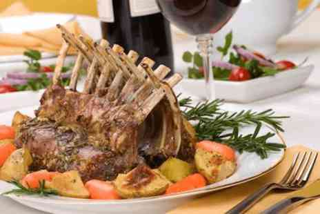 The Blue Steak Restaurant - Rack of lamb with a bottle of red wine for Two - Save 31%