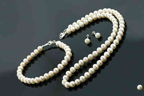Jazzydeals - Freshwater Pearl Set - Save 87%