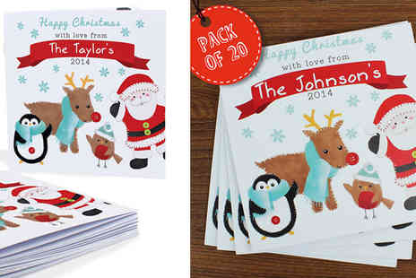 Unusual Giftz - Personalised Christmas Cards x 20 - Save 22%