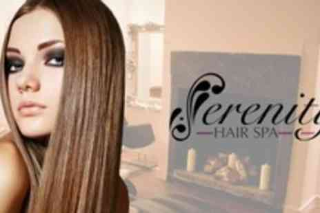 Serenity Hair Spa - Cut and Finish With Keratin Conditioning Treatment - Save 72%