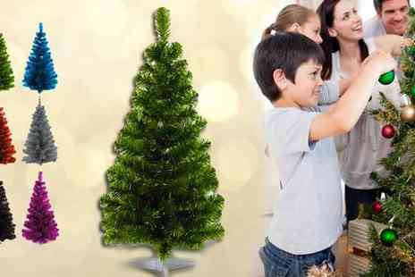 Festive Lights - 3 feet Festive Tinsel Christmas Tree - Save 47%