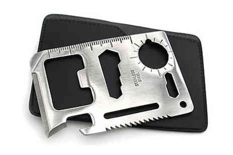 E accessories - 11 in 1 Stainless Steel Wallet Tool - Save 57%