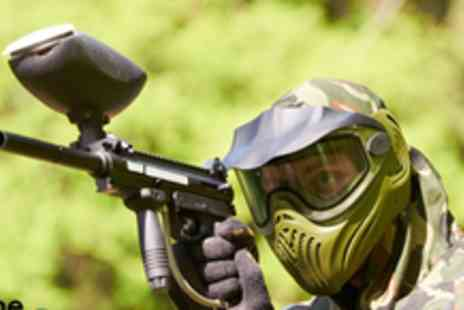 Elsham Activity Centre -  Full day of paintballing for four people - Save 93%