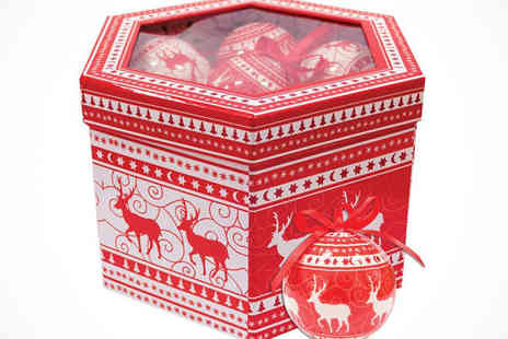 Touch 3 - Nordic Reindeer Christmas Baubles  - Save 64%
