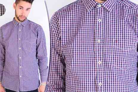 Discount Network - Tommy Hilfiger Mens Red and Navy Check Shirt - Save 64%