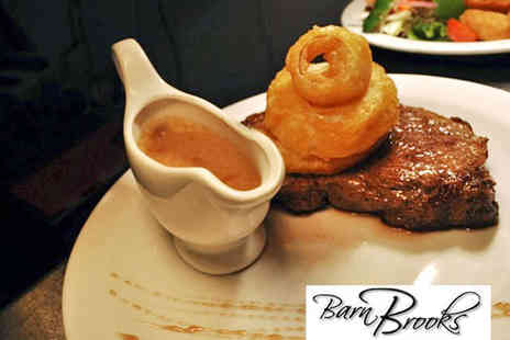 Barn Brooks - Starter and Main Course for Two - Save 50%