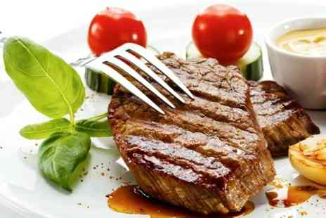 Oscars Bar - Sirloin Steak With Wine For Two  - Save 61%
