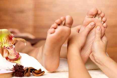 Sparkle Treatments - One hour luxury foot treatment including callus peel, paraffin wax mask, file and polish - Save 60%