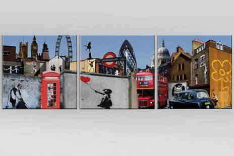 Canvas Town - Banksy Inspired London Themed Canvas Print - Save 65%