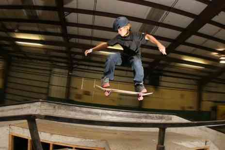 Ramp Skate Park - Skateboarding Party With Food For Ten  - Save 50%