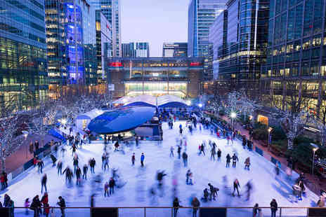 Ice Rink Canary Wharf - One hour ice skating experience for two - Save 50%