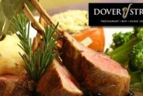 Dover Street - Dinner and Dancing Night Out With Five Course Meal and Live Jazz For Two - Save 54%