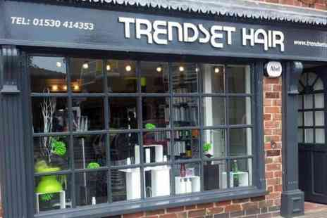 Trendsetuk - Cut and Blow Dry With Half Head Highlights or Full Colour - Save 75%
