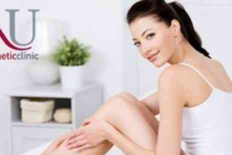 Nu Cosmetic - Six Sessions of Laser Hair Removal on One Medium or Two Small Areas - Save 84%