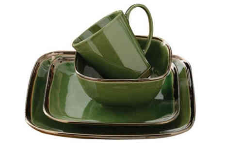 inspire home - 16 Piece Reactive Glaze Dinner Set - Save 49%