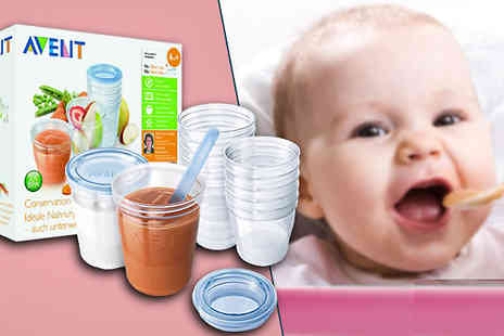 Ecom Group -  20 Piece Baby Food Storage Set - Save 40%