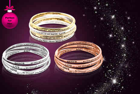 Brilliant Ideas Jewellery - Inspirational bangle in a choice of 8 designs - Save 70%