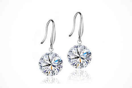 Youri deal gift store - One Pair Drop Earrings Made with Czech Crystals - Save 80%