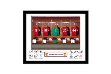 Personalised Football Gifts - Personalised Sports Dressing Room Photo With Frame - Save 52%