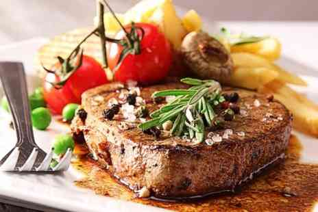 The Bull - Rib Eye Steak With Chips and Wine For Two - Save 53%