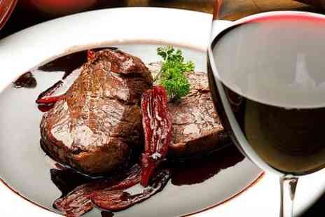 Richies diner  - Two Course Steak Meal With Wine For Two  - Save 55%