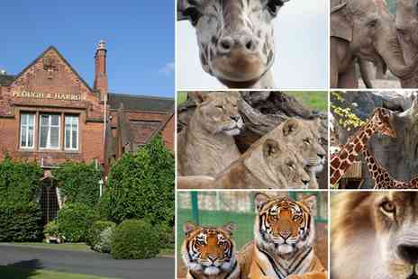 Plough and Harrow Hotel - One night Stay with a Midlands Safari family pass for Four - Save 48%