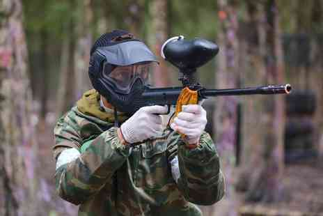 Paintball Park - Paintballing day for five including 100 paintballs & a hot lunch each - Save 86%