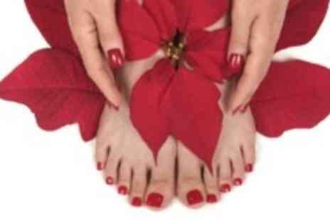 The Pamper Lounge - Shellac manicure & pedicure - Save 78%