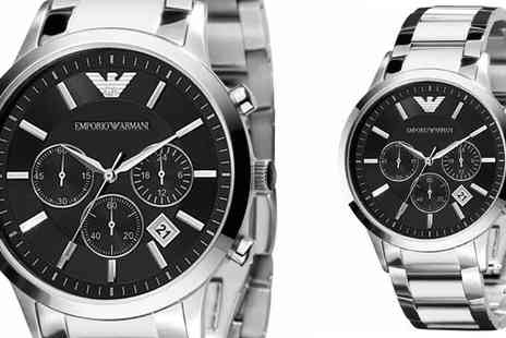 designer posh watches - Armani Gents Classic Chronograph Watch - Save 48%