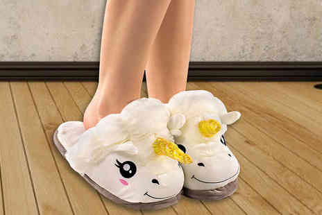 Unusual Giftz - Adorable Unicorn Slippers - Save 63%