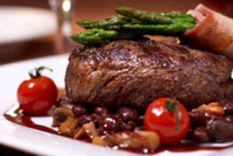 La Pietra Soho - Succulent Hot Stone Steak Meal for Two with a Bottle of Wine - Save 50%
