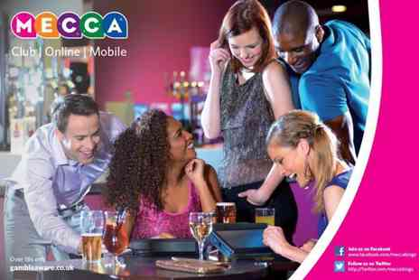 Mecca Bingo - Bingo session for Two  including a game of bingo, a burger meal and a beer, glass of wine or soft drink each at Mecca Bingo  - Save 0%