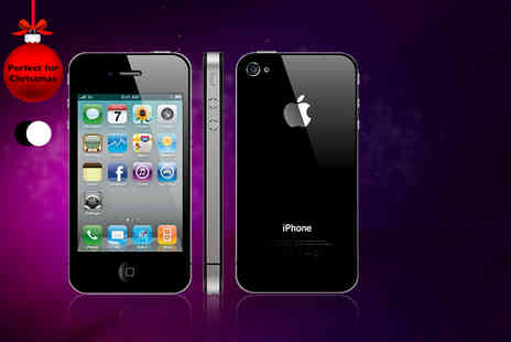 Smart Cherry Mobiles - Unlocked refurbished iPhone 4 8GB in black or white - Save 37%