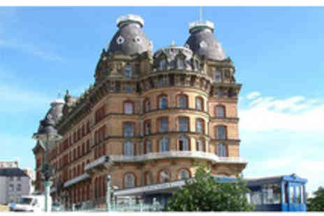 The Grand Hotel - Two night seaside Scarborough break for two with a three course dinner, a bottle of wine, late checkout & entertainment - Save 0%