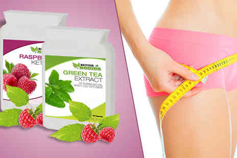 BioNutricals - Raspberry Ketone & Green Tea Capsules - Save 80%
