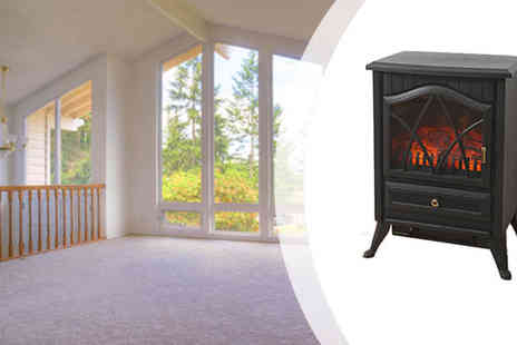 sssuperstore - Traditional Style Log Burning Effect Electric Stove - Save 19%