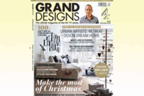 Media 10 Limited - One Year Subscription to Grand Designs Magazine - Save 30%
