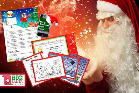 Fuel Tank Media - Personalised Santa letter and activity pack  - Save 50%