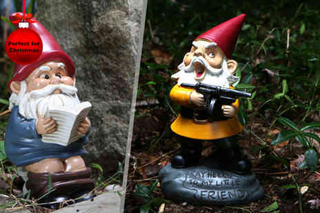 Rosetta Brands - Choice of four naughty garden gnomes - Save 57%