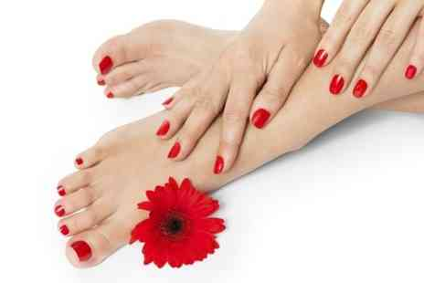 Prim and Propa - Shellac Manicure or Pedicure - Save 78%