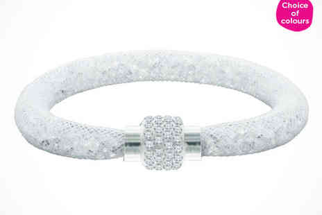 Diamond Style - Stardust Bracelet in Blue, Pink, Black, or White  or All Four  - Save 77%