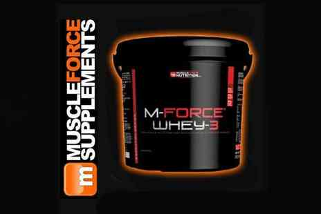 Muscle Force  - M Force Whey 3 100% Protein Powder - Save 0%