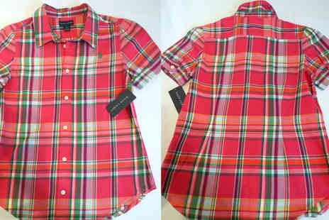 Discount Network - Ralph Lauren Red Cotton Madras Shirt for Girls - Save 82%