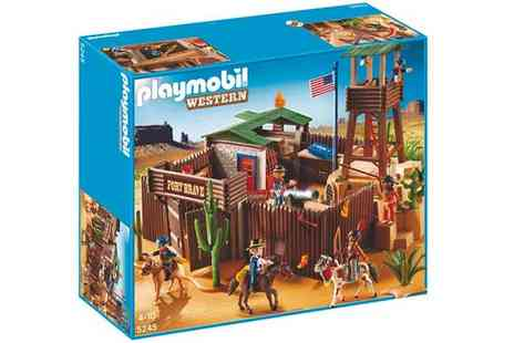 Pixmania - Playmobil Western 5245 Western Fort - Save 35%