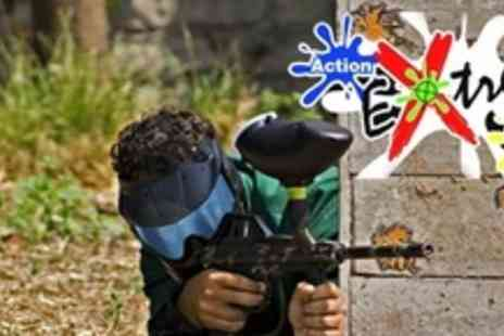 Action Extreme NI - Paintball Experience For Ten With 100 Paintballs Each - Save 85%
