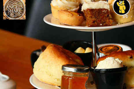 Angels Share - Sparkling Afternoon Tea for Two with a Glass of Prosecco Each - Save 49%