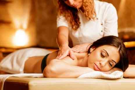 Fusion Hair Beauty - Hot Stone Back or Full Body Massage With Facial   - Save 44%